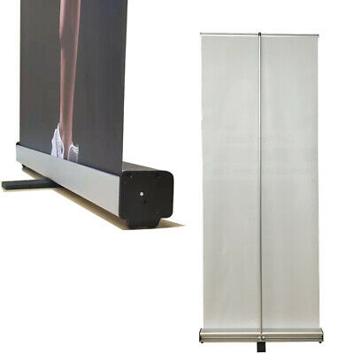 "2 pack,24"" x 66"", Retractable Roll Up Trade Show Display Banner Stand Adjustable"