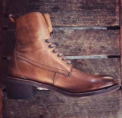 Gee Wawa Jacee hand made leather Boots in  tan color  size 8