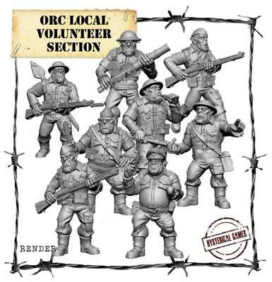 Hysterical Panzerfäuste Orcs 25mm Local Orc Volunteers Section Pack MINT