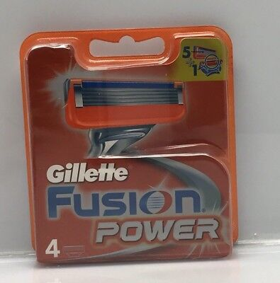 4 Gillette Fusion Power Rasierklingen in OVP Original