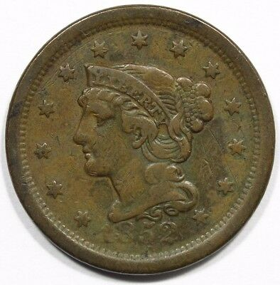 1852 Braided Hair Large Cent