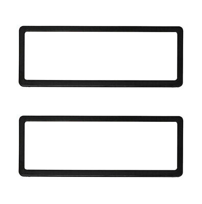 Number Plate Protector 6 Figure Standard Black Clear One Pair 6ST