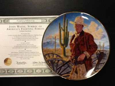 """John Wayne 8 1/4"""" Collectors Plate - Champion of The West"""