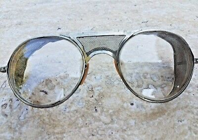 Vintage Bausch & Lomb Steampunk  Safety Glasses  Motorcycle
