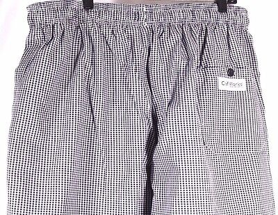 Chef Works Chef Pants Size 3XL Checkered Baggies Poly Cotton Blend