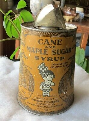 Dunbar Cane And Maple Syrup Advertising Tin