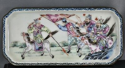 Rare Antique Chinese Hand Painted Porcelain Tray Export Ware Circa Late 1700s