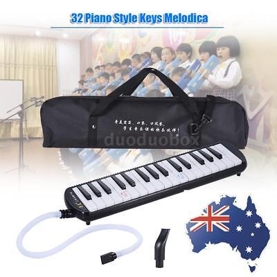 BLACK 32 Keys Piano Style Melodica with Carrying Bag for Christmas Gift O6D9