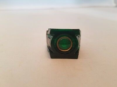 Green Lantern Power Ring Pewter and Emerald Green.