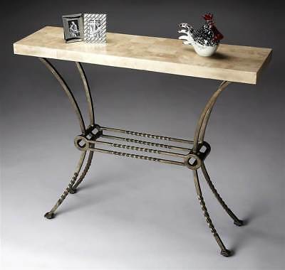 Console Table w Wrought Iron Base in Metalworks [ID 42070]