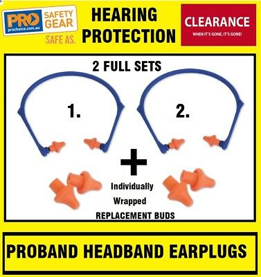 ProChoice HBEP PRO ProBand Headband Earplugs 2 Pairs & 2 Bonus Replacement PPE