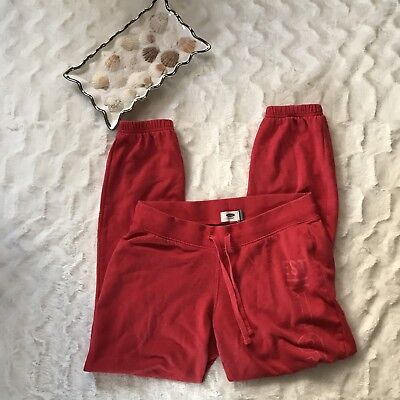Old Navy womens sweatpants cinched bottom pant drawstring signs of wear pink S