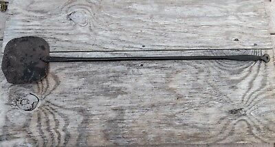 Primitive Antique Hand Forged Wrought Iron Fireplace Hearth Bakers Peel