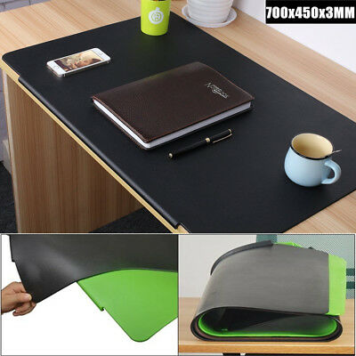 700x450mm PVC Leather Desk Writing Mat Non-slip PC Mouse Pad for Home Office New