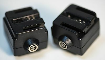 Flash Hot shoe adapter Sony Alpha Flash to Radio Triggers a77 a350, a55 LOT of 2