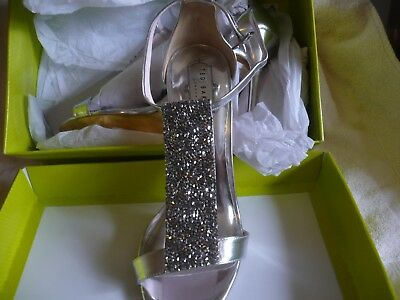 ted baker silver heels brand new in box