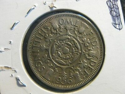 1956 UK Great Britain Two Shilling Coin
