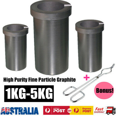 1KG-5KG Pure Graphite Furnace Casting Foundry Melting Tool + Free Crucible Tongs
