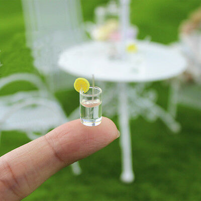 4PCS Dollhouse Miniature Bottled Lemon Water Jam 1/6 1/12 Scale Model Home Decor