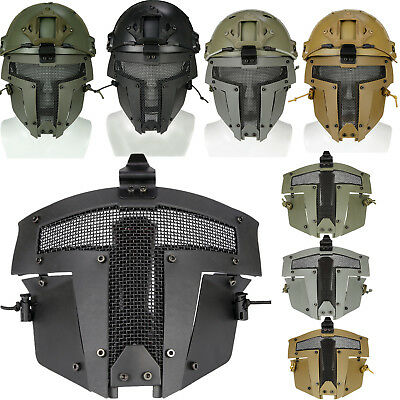 Paintball Airsoft Taktische Metall Vollmaske Full Face Mask Sparta AF Helm Maske