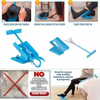 Sock Slider Easy on/off Aid Kit Shoe Horn Pain Free No Bending Stretching GB