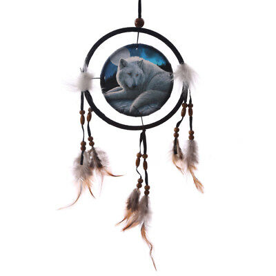 NEW Guardian of the North Wolf Dream Catcher by Lisa Parker 16 cm Dreamcatcher
