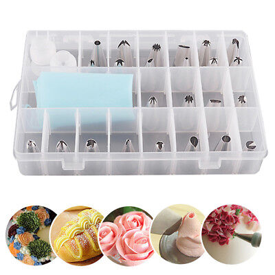 24 Pcs Pastry Cake Decorating Nozzles Tips Set Kit for Icing Piping Bag Tool Pen