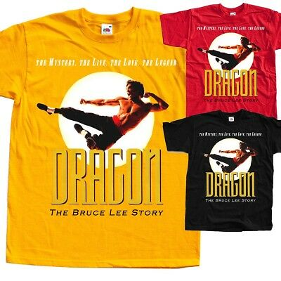 DRAGON STORY Bruce Lee, Movie poster  T SHIRT all sizes S to 5XL