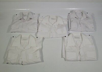Ex Police Job Lot of 5 White Shirts Used Work Wear Security Wholesale