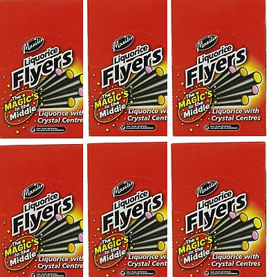 6 Full Boxes MAXILIN LIQUORICE GIANT FLYERS BOX  NEXT DAY DELIVERY £2