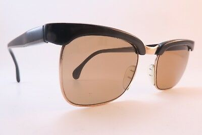 Vintage 50s sunglasses gold filled black acetate MARWITZ OPTIMA made in Germany