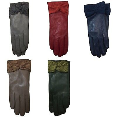 Ladies Womens Premium Super Soft Real Leather Gloves Winter Warm Driving Lined