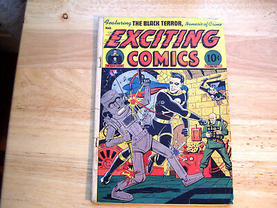 Exciting Comics No. 45  March 1946  Robot Cover By Schomburg Cover Only