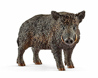 Schleich 14783 Wild Boar Toy Figure, Black, For Ages 3+