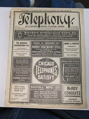 RARE 1906 TELEPHONY MAGAZINE JOURNAL * December * LEE DE FOREST THE AUDION * ADS