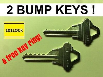 2 Schlage SC1 Bump Keys with 2 different specs, lockout opening tool universal