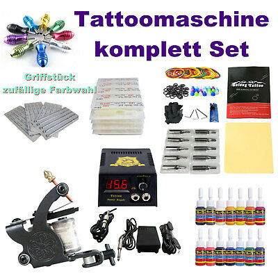 Tattoomaschine Tattoo Maschine komplett Set Tattoofarbe Ink Tattoofarben Nadeln
