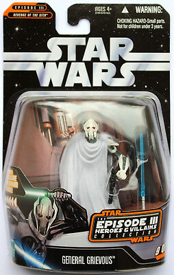 Star Wars The Saga Collection Heroes & Villains General Grievous Hasbro