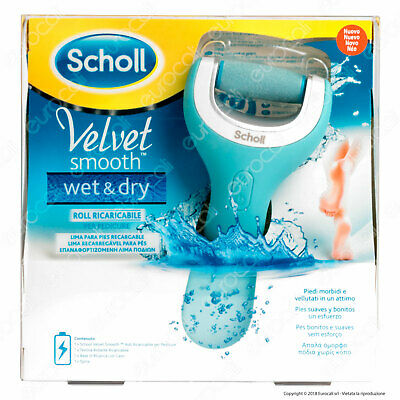 Scholl VELVET Soft SMOOTH WET & DRY Cura Piedi Roll Ricaricabile per Calli