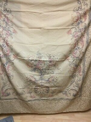 Croscill Normandy Floral Scroll Fabric Shower Curtainmint