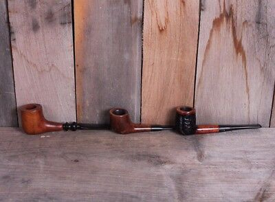 Lot of 3 Restored Vintage Briar Smoking Tobacco Estate Pipes