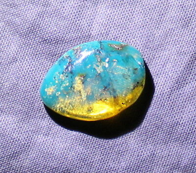 Dominican Clear Sky Blue Amber Polished Stone 16x11x4mm 0.5g   free drilling
