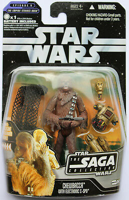 Star Wars The Saga Collection Chewbacca With Electronic C-3Po Hasbro