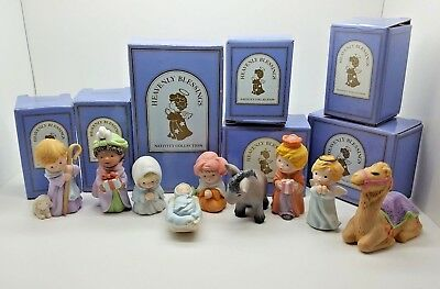 AVON Nativity Collection - Heavenly Blessings Collection - 1986 - w/ Boxes