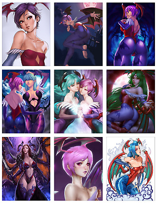 "DARKSTALKERS - Lillith Aensland 9-pc Stickers Set - 2.5x3.25"" (PS4, XBOX, GAME)"