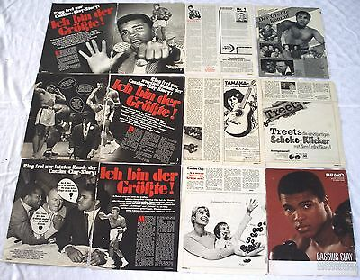 MUHAMMAD ALI - CASSIUS CLAY - Sammlung Clippings rare 70s collection Berichte