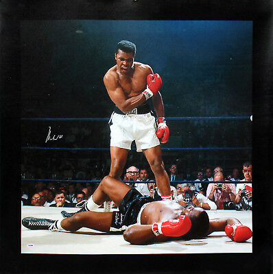 Muhammad Ali Authentic Signed 30x40 Canvas vs Sonny Liston PSA/DNA ITP #5A26537
