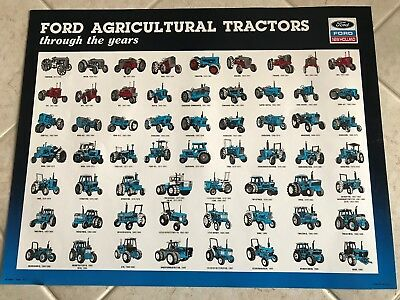 Ford Agricultual Tractors trough the years Poster 1917-1990