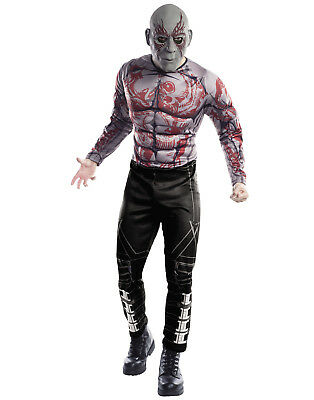 Guardians Of The Galaxy Vol. 2 Mens Deluxe Drax Adult Muscle Chest Costume
