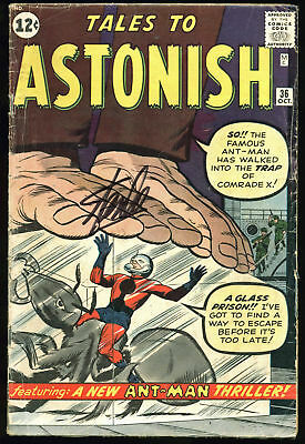 Stan Lee Authentic Signed Tales To Astonish #36 Comic Book PSA/DNA #Z05343